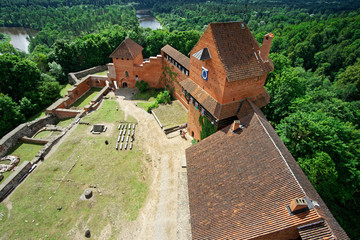 Blick vom Turm der Burg Turaida im Gauja Nationalpark, Lettland