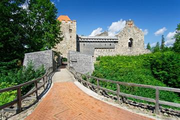 Burg der Livonischen Ordensbruderschaft von Sigulda, Lettland