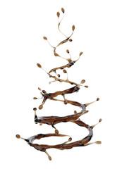 Coffee splash in shape of Christmas tree