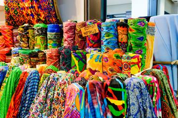 Textiles in Yaowarat Bangkok Chinatown