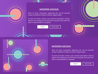Modern Design Web Pages Set Vector Illustration