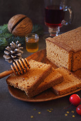 French spice bread, honey and mulled wine
