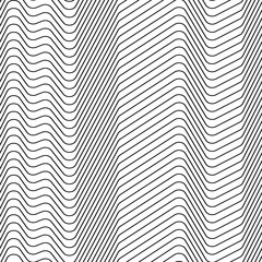 Seamless strips pattern of zig zag lines