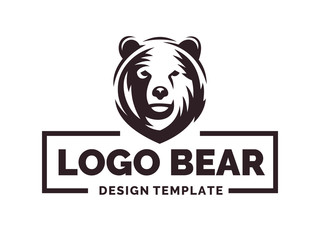 Bear logo - vector illustration, emblem design on white background