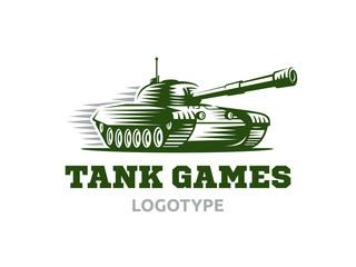 Tank logo - vector illustration, emblem design on white background