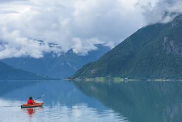 Person sea kayaking