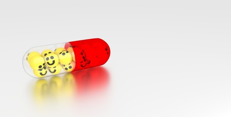 Happy Pill - Copy space
