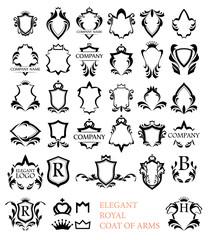 Big set of Rotal Elegant Heraldic Blazons