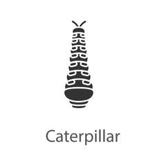 Caterpillar glyph icon