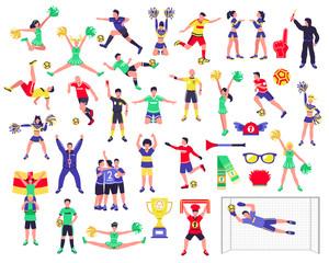 Soccer Fan Characters Set
