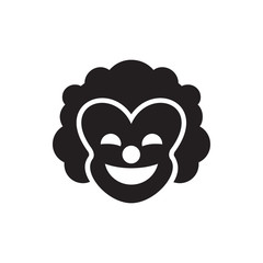 clown icon illustration