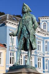 Statue of Holberg in Bergen