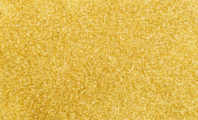 Golden glitter texture abstract background.