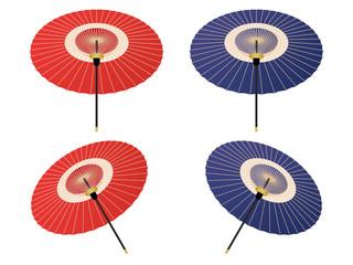 和傘のイラストセット