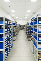 Warehouse of components for the electronics industry.