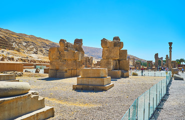 The Unfinished Gate in Persepolis, Iran