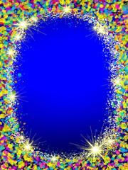 Colorful Christmas frame .