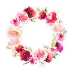 Watercolor wreath to the wedding