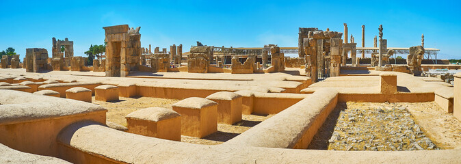 Panorama of Persepolis ruins, Iran
