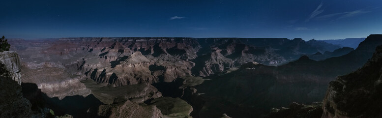 Night view in Grand Canyon, USA, Panoramic view