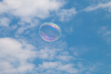 Bubbles floating in the sky