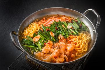 プデチゲ 韓国の鍋料理Budaejjigae pot cuisine of Korea