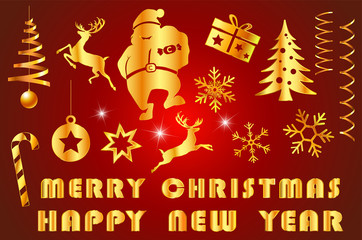 festive merry christmas with decorated item and text for merry christmas with celebration countdown to new year festival holiday in december every year