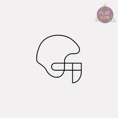 American football helmet line icon