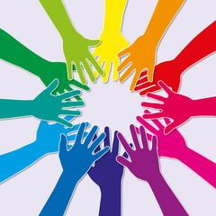 main - ensemble - groupe - union - équipe - entreprise - travail d'équipe - sport - partenariat