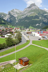 The village of Engelberg on the Swiss alps