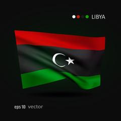 Vector flag of Libya