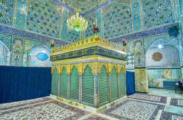 The sarophagus in shrine of Yazd