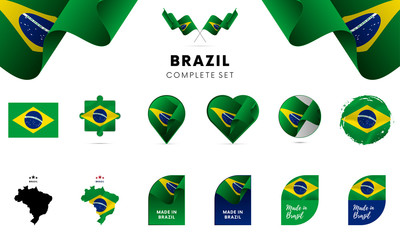 Brazil complete set. Vector illustration. Wall mural