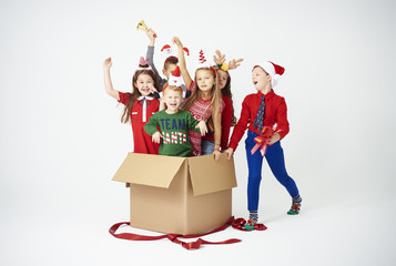 Happy children are the best christmas present.