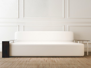 modern sofa in the room, 3d