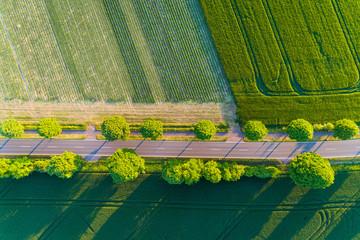 Straße von oben, Deutschland