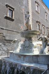 Catane (Sicile - Italie) / Fontaine de l'Amenano -
