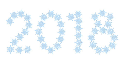 Snowflakes 2018 lettering