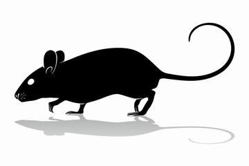 mouse silhouette, vector draw