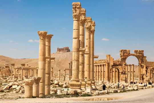 The ancient ruins of Palmyra, Syria