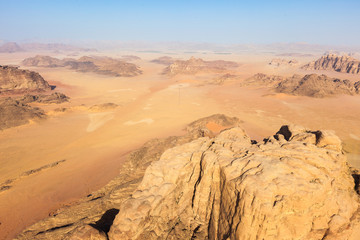 Flying over the Wadi Rum, Jordan