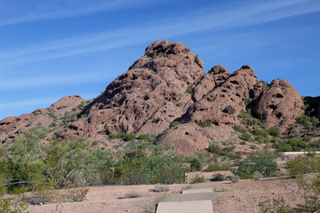 A mountain in the Arizona desert