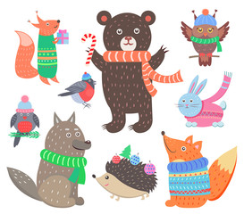 Collection of Animal Images Vector Illustration