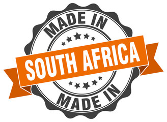made in South Africa round seal