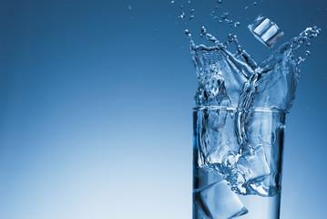 Splash of water glass