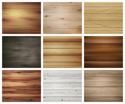 Wooden Texture Pattern Set