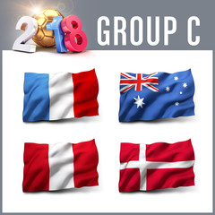 2018 soccer competition in Russia - Group C
