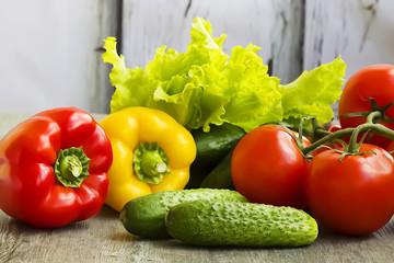 Assorted of fresh vegetables .