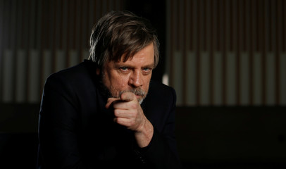 "Cast member Hamill poses for a portrait while promoting the movie ""Star Wars: The Last Jedi"" in Los Angeles"