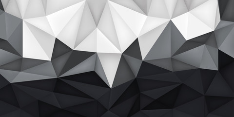 Low polygon shapes, transitions light to dark background, more crystals, triangles mosaic, creative origami wallpaper, templates vector design